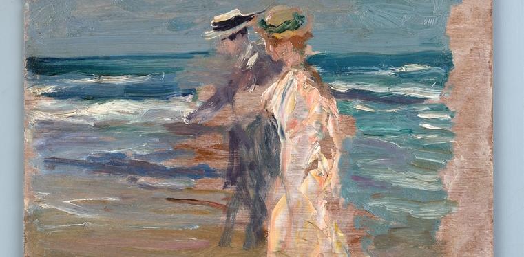 A la orilla del mar -1913- detall