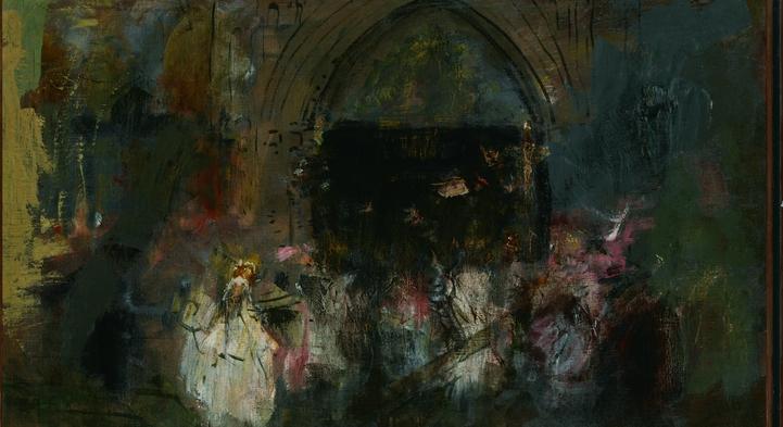 A la puerta de la Iglesia (Detalle)