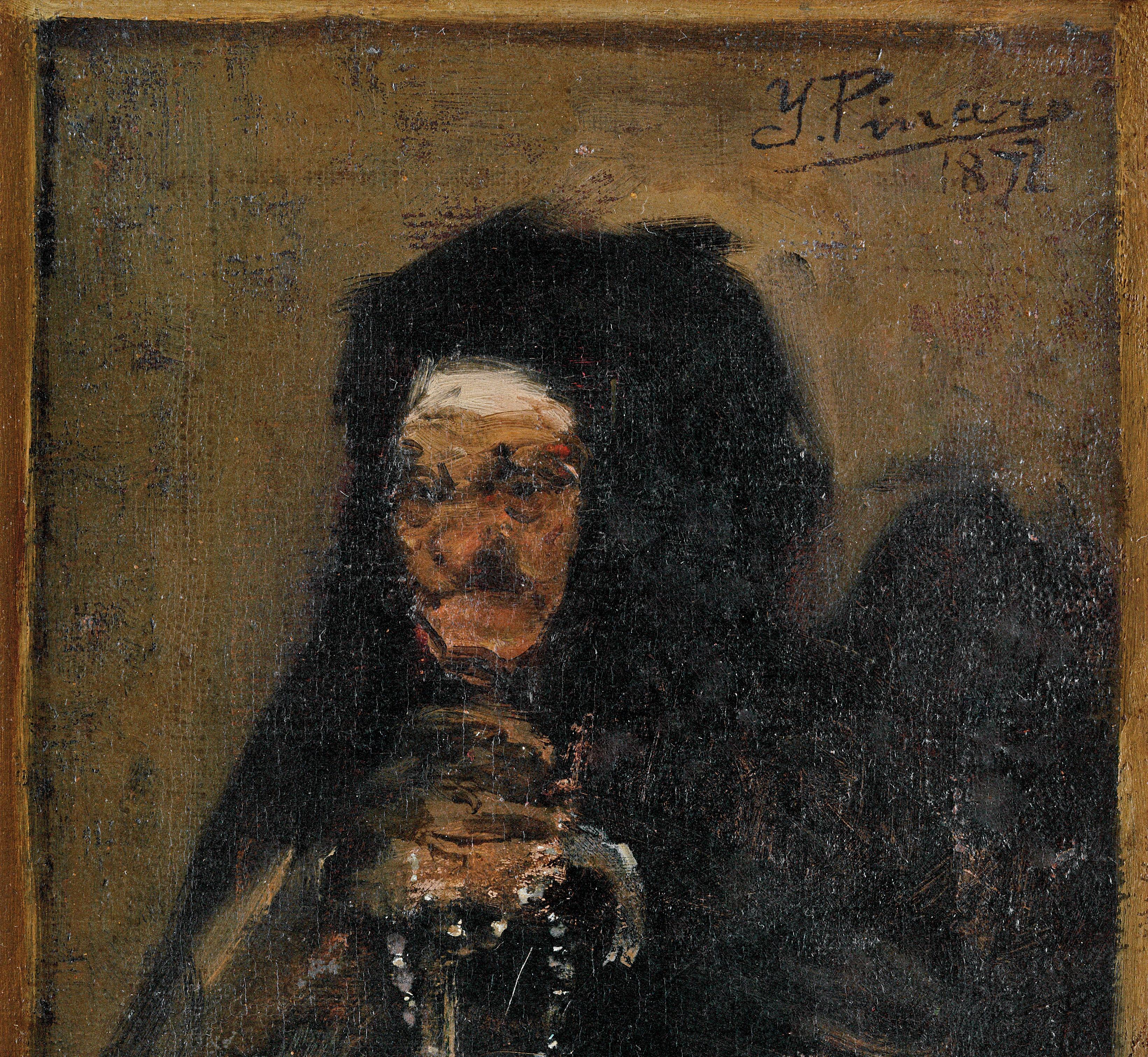 Anciana con rosario -1872- (Detalle)