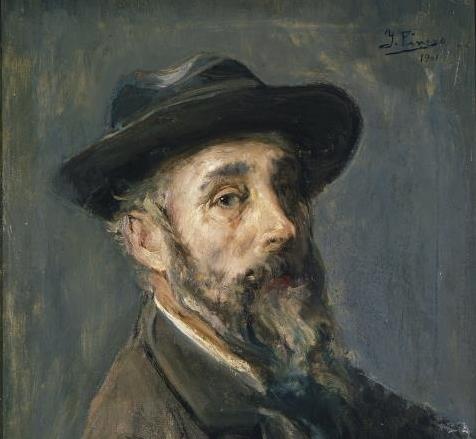 Autorretrato, 1901 (Museo del Prado) -Detalle-