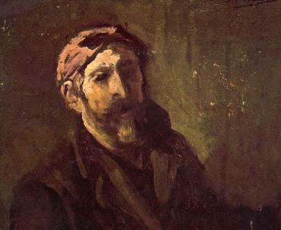 Autorretrato con paleta -1901- (Detalle)