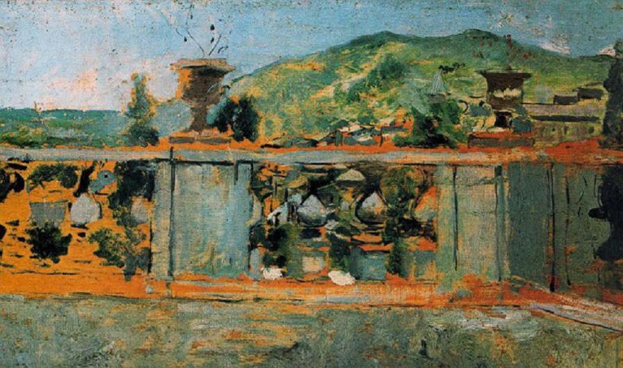 Balaustrada y paisaje