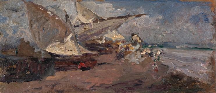 Barca en la arena