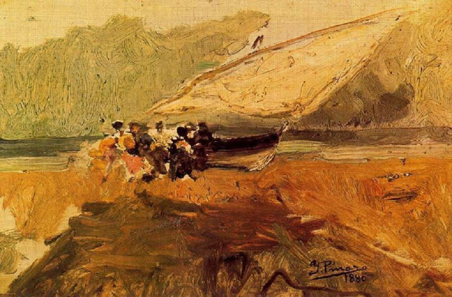 Barca en la playa -1880-