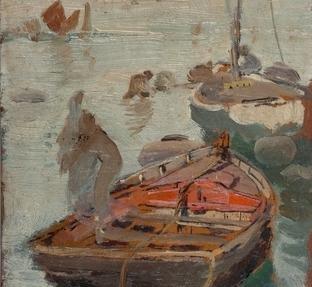 Barcas en Venecia (detalle)