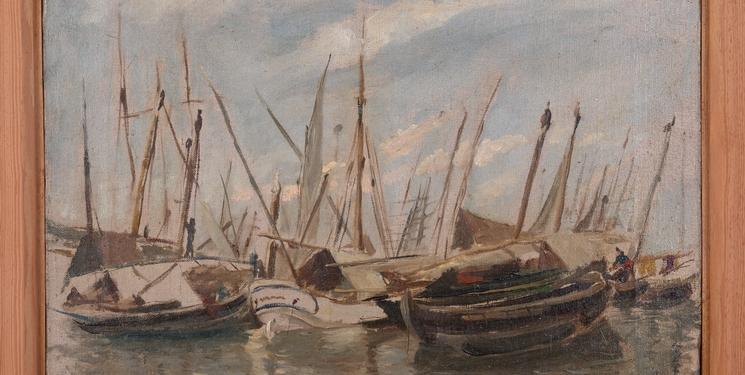 Barcos en puerto -1881-