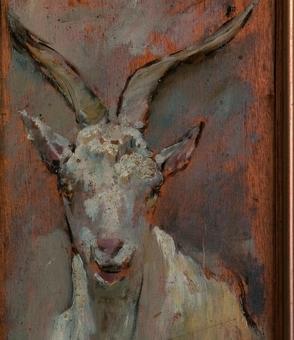 Cabeza de cabra (1874) -detalle-