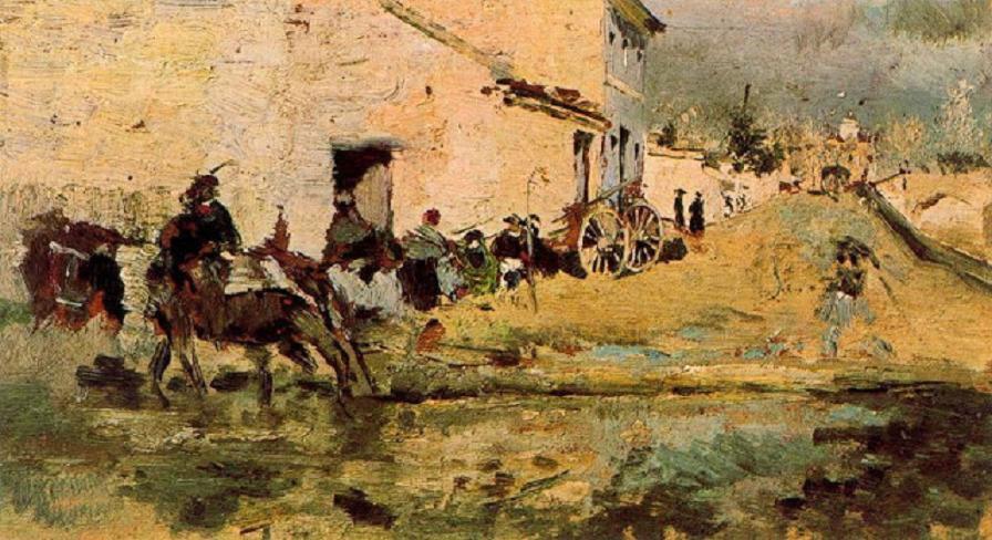 Calle junto al Turia -1889-