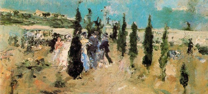 Camino del cementerio -1883-