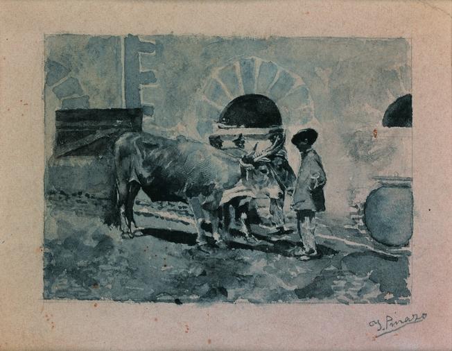 Campesino y bueyes