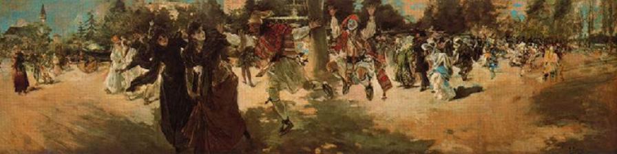 Carnaval en la Alameda de Valencia -1889-