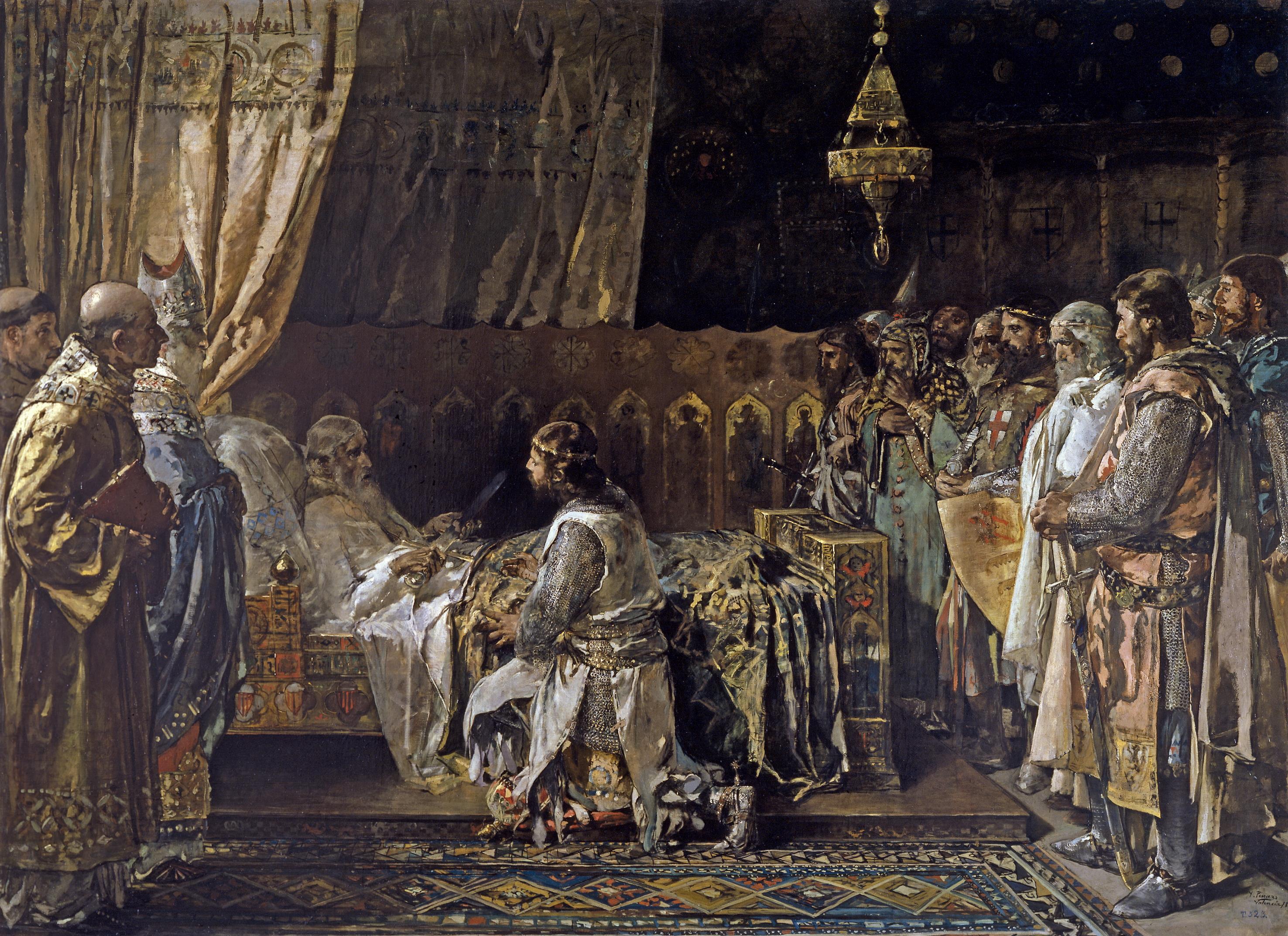 Darrers moments de Jaume I (Museu del Prado)