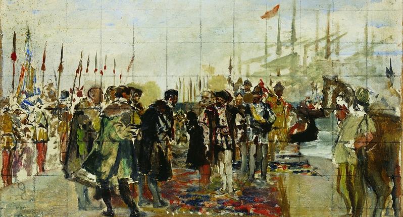 Desembarco de Francisco I en el Puerto de Valencia