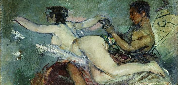 Desnudo alegoria boceto techo