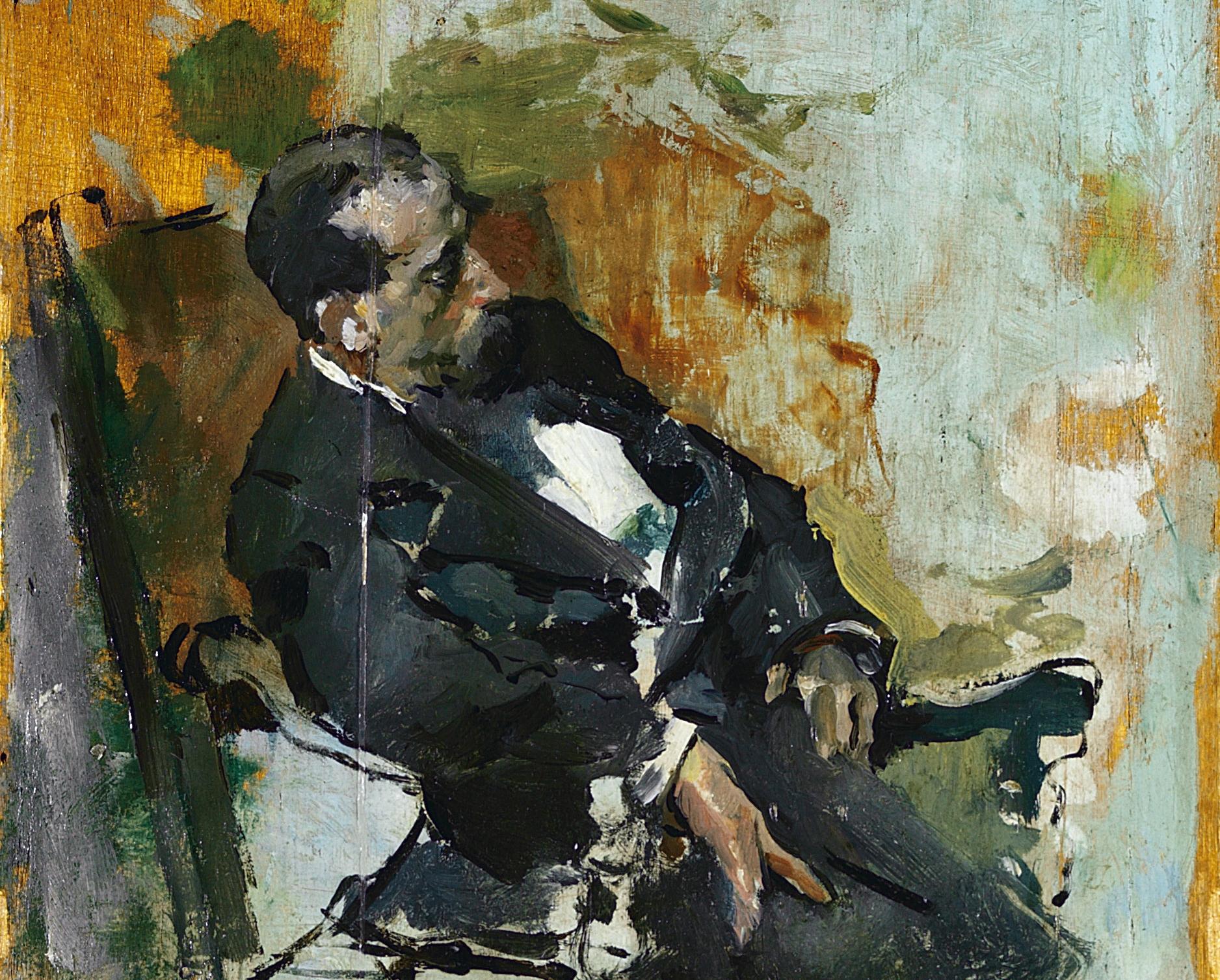 Hombre sentado -1880- (detalle)