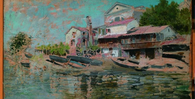 Laguna de Venecia (San Trovasso) -1881-