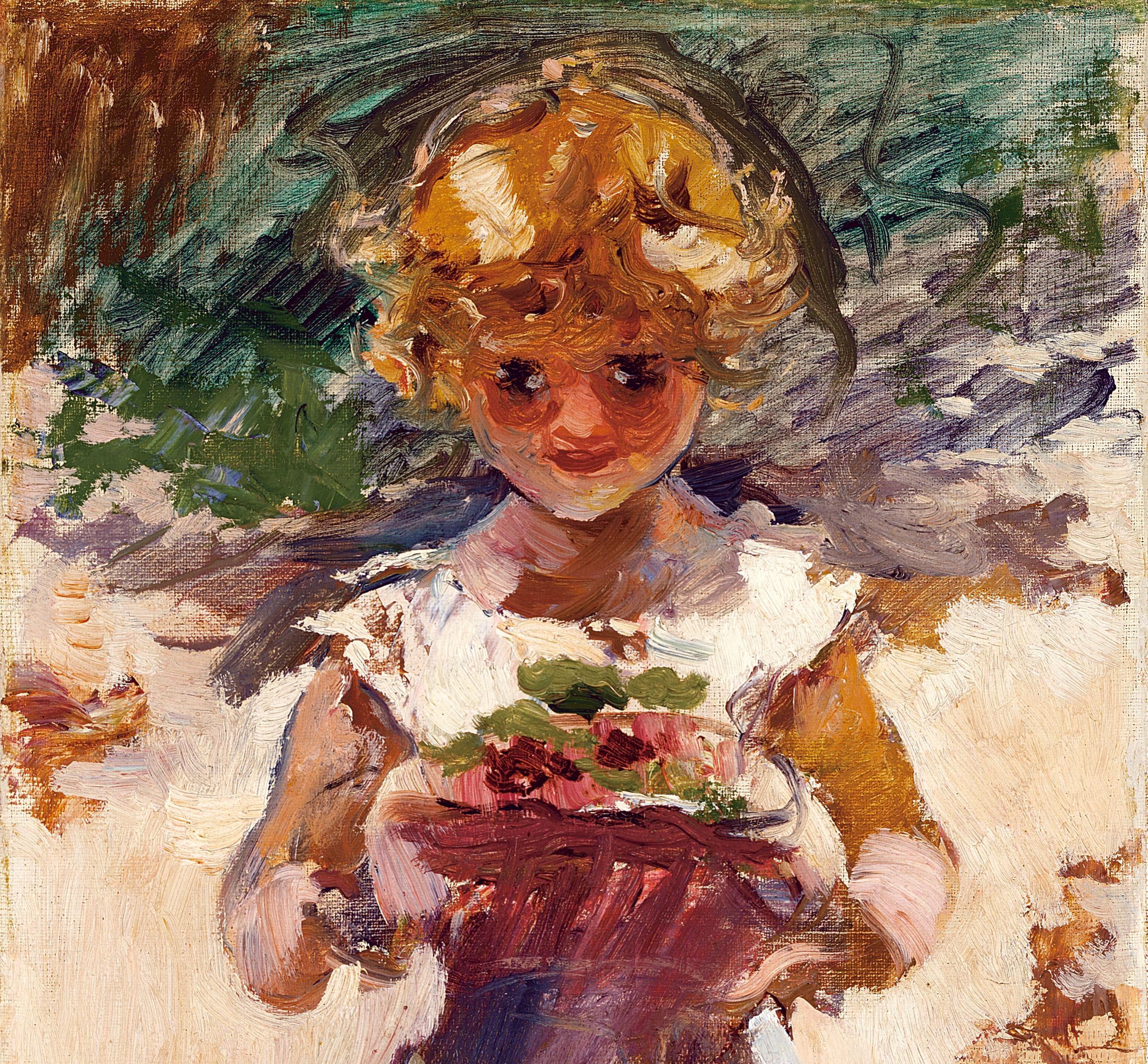Niña-con-flores -1887- (detalle)