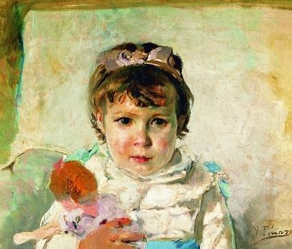 Niña con muñeca (Detalle)
