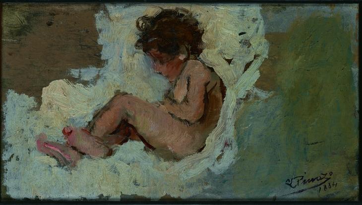 Niño sobre fondo blanco -1884-