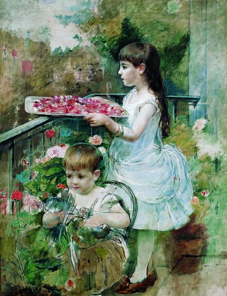 Niños en el balcón