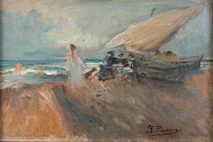 Playa del Grao, 1890
