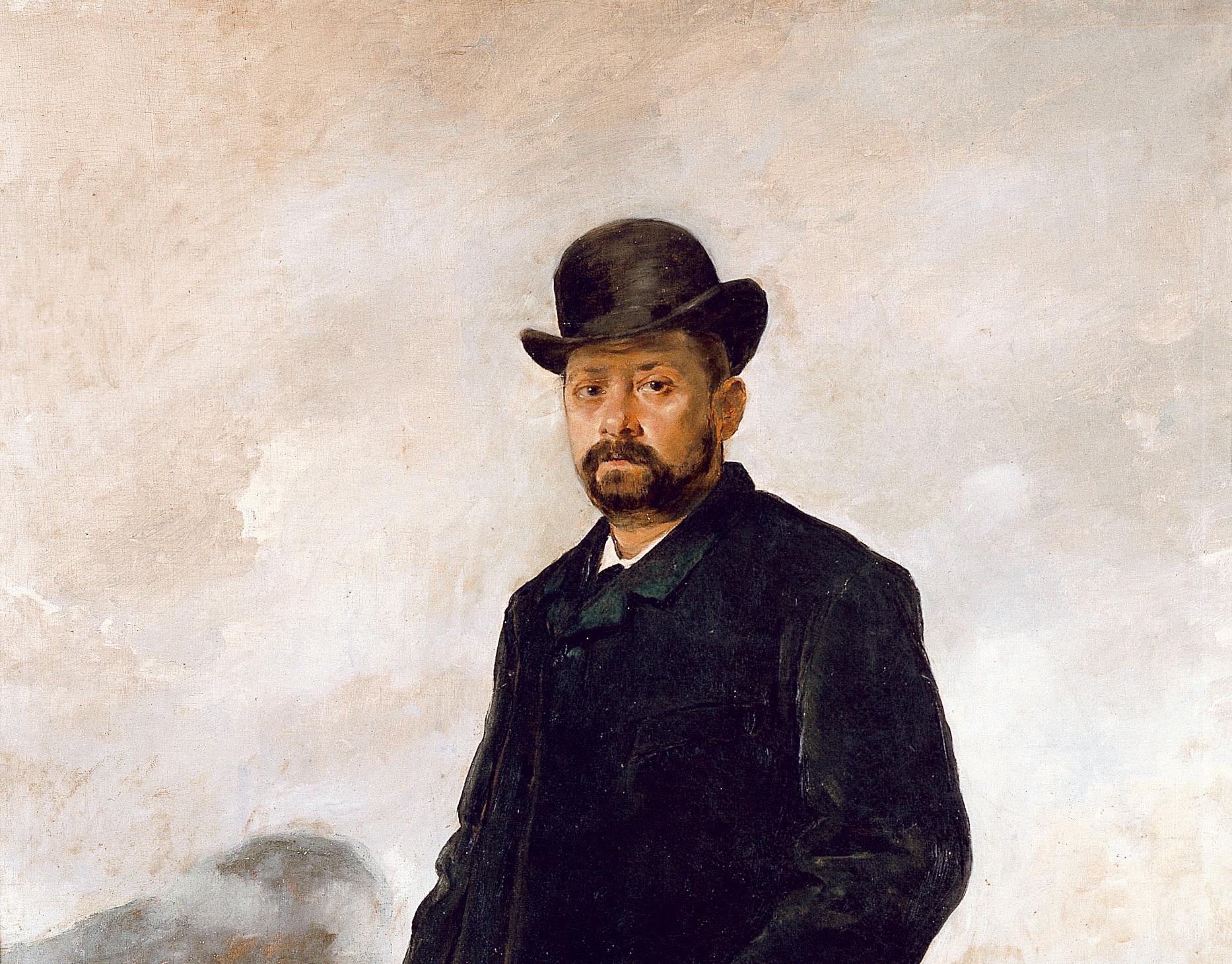 Retrato Augusto Comas (Invierno) -1885- (detalle)