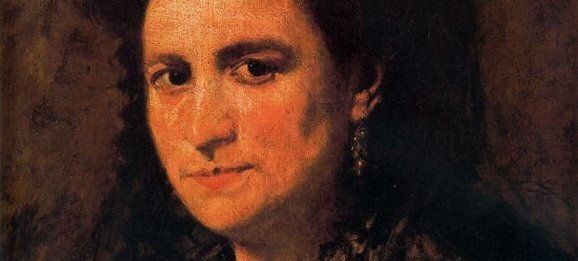 Retrato de Doña María Martínez Monfort (Detalle)