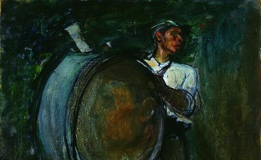 Tocando el bombo (1900) -detall-