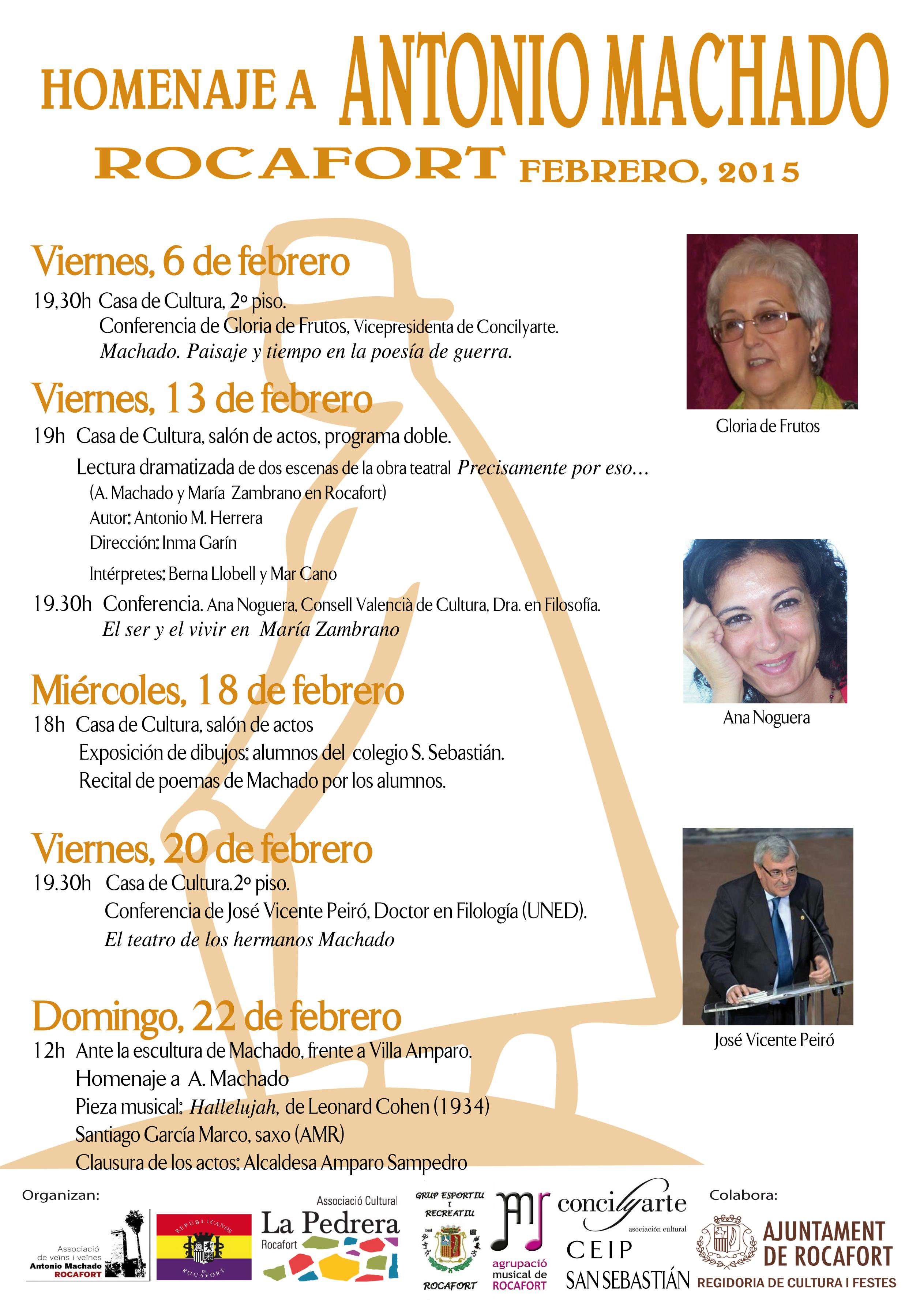 Homenaje a Machado. Febrer 2015