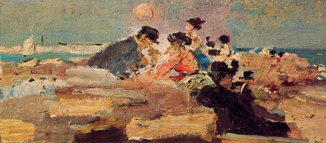 escena de playa -1907-