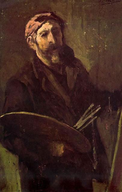Autorretrato con paleta -1901-